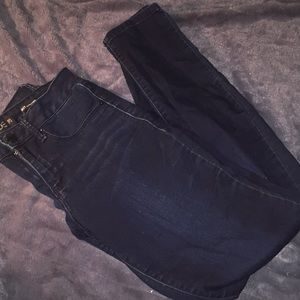 Denim - Dark blue jeans